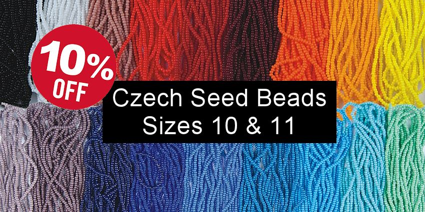 Czech Seed Bead Sale - Sizes 10 & 11 - Crazy Crow Trading Post Crow Calls Sale May-June 2018