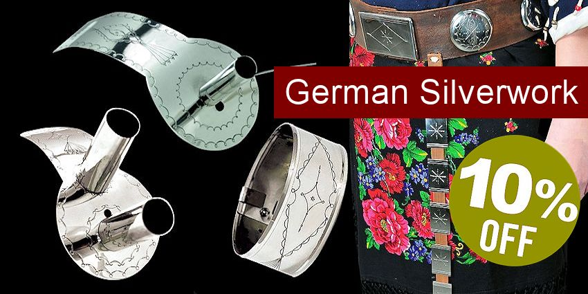 Native American Plains-Style German Silverwork