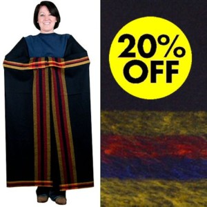 4-Band Navy Broadcloth, 4-Way, 100% Wool Blanket