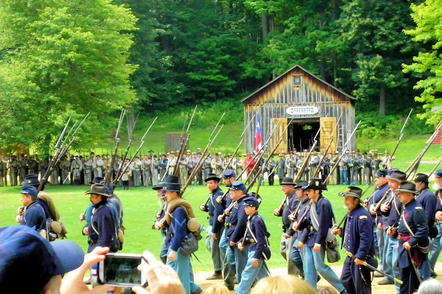 Charlton Park Civil War Muster - Historic Charlton Park Village & Museum - 8th Arkansas/22nd Michigan Civil War Reenactors - Third Michigan Volunteers Company F Reenactors - 18th Michigan Infantry Company A Reenactors - 1st Michigan Volunteer Regiment Reenactors