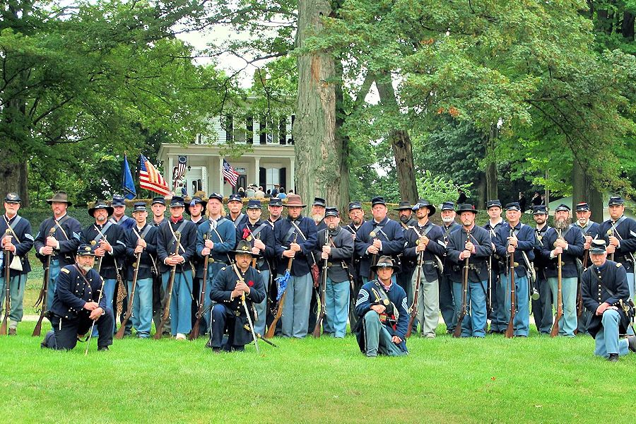 Michigan's Heritage Park Civil War Weekend - Lakeshore Museum Center Civil War Weekend - Third Michigan Volunteer Infantry Company F Reenactors