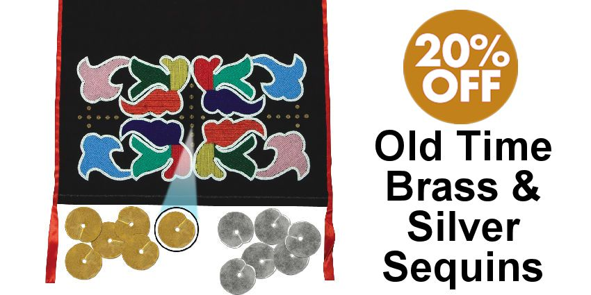 Old Time Brass & Silver Sequins - SAVE 20% - Crazy Crow Trading Post Crow Calls Sale