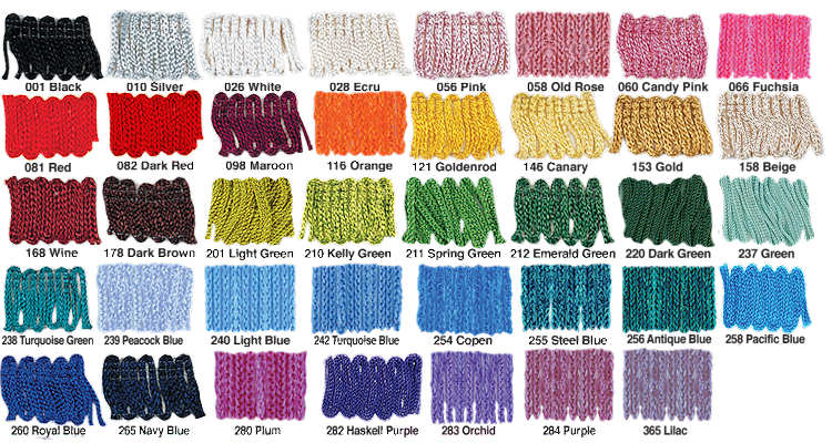 14 inch Chainette Fringe for Native American Dance Shawls