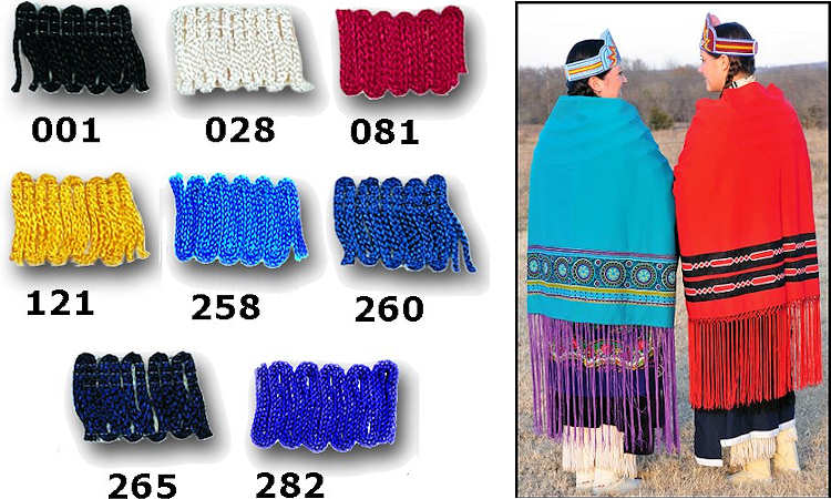 18 inch Chainette Fringe for Native American Dance Shawls