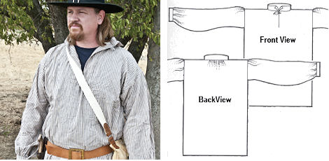 Mountain Man's Workshirt Pattern from Crazy Crow Trading Post