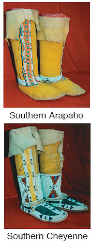 Plains Hi-Top Moccasin Pattern from Crazy Crow Trading Post