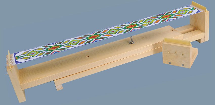 Deluxe Adjustable Bead Loom from Crazy Crow Trading Post
