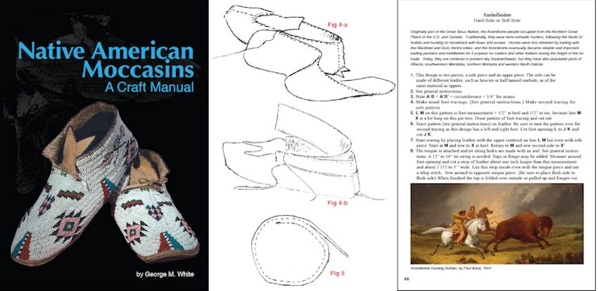 Native American Moccasins A Craft Manual By George M White