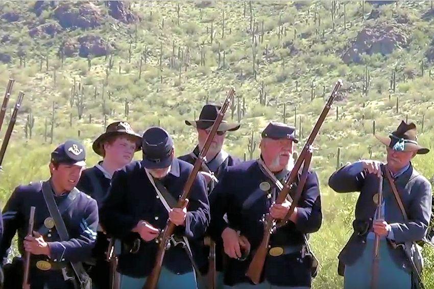 Picacho Peak Civil War Reenactment In The Southwest