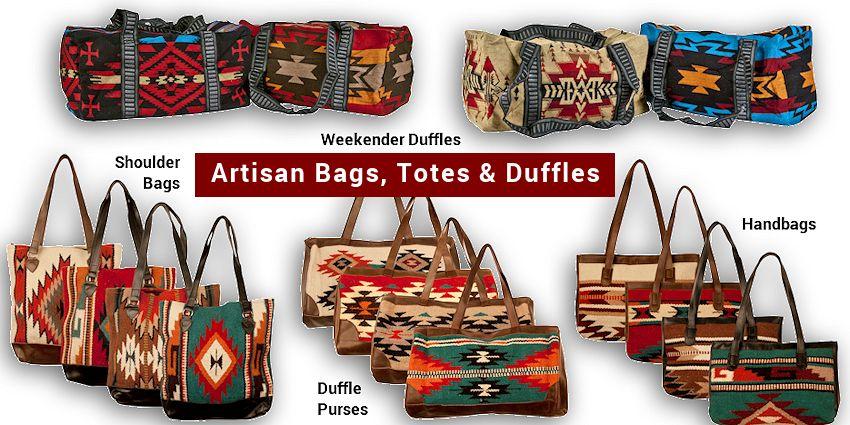 Bags Handbags Purses Shoulder Weekender Duffles Handmade Southwestern Indian Style