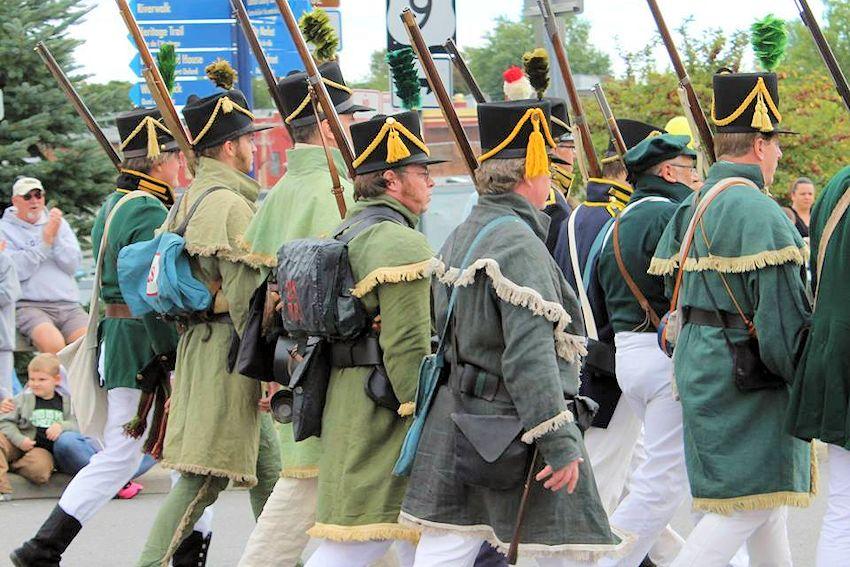 Battle of Ogdensburg Reenactment - Forsyths Rifles Inc - Downtown Ogdensburg - Fort De La Peesentation