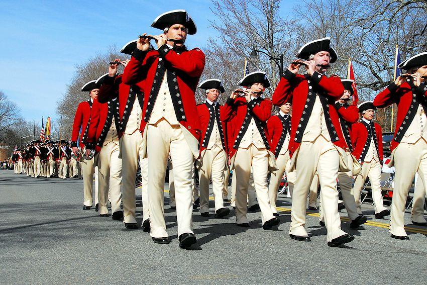 Concord Patriots Day Parade - Downtown Concord Massachusetts - Town of Concord Massachusetts