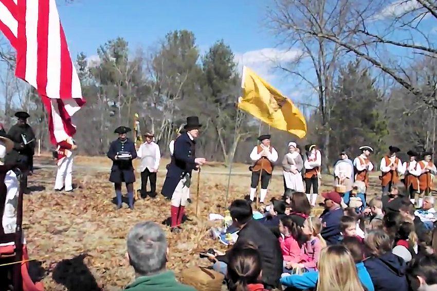 Paul Revere Capture Ceremony - Minute Man National Historic Park Massachusetts - Lincoln Minute Men