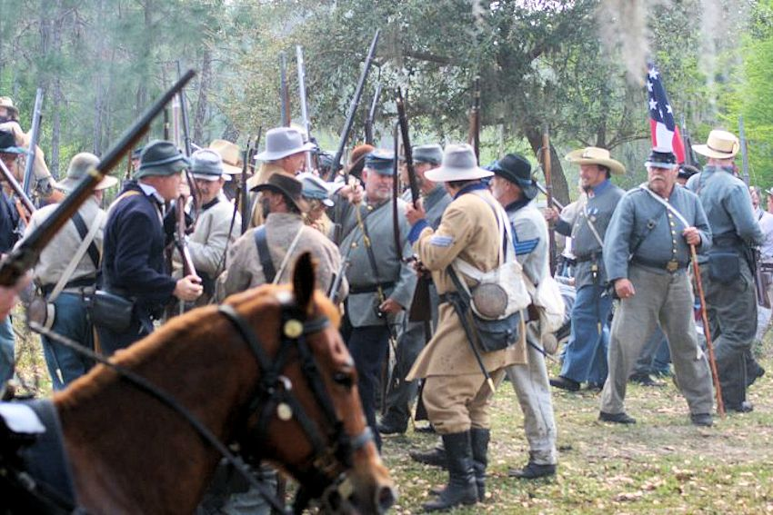 Battle at Narcoossee Mill Reenactment - Ralph V. Chisholm Park - Jacob Summerlin Camp #1516, Sons of Confederate Veterans