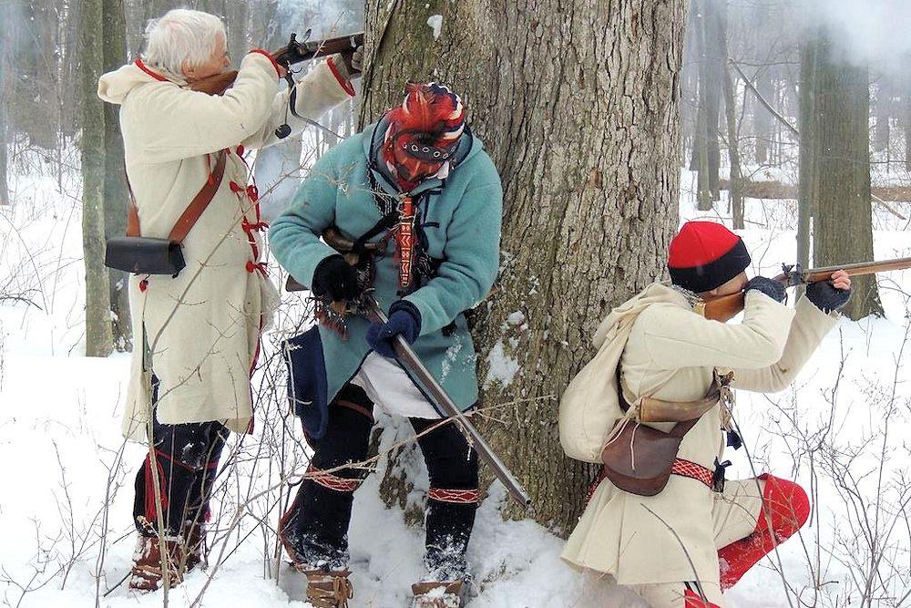 Old Fort Niagara Winter Woods Battle