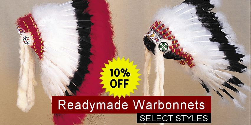 Crazy Crow Trading Post Crow Calls Sale May-June 2018 - Readymade Warbonnets
