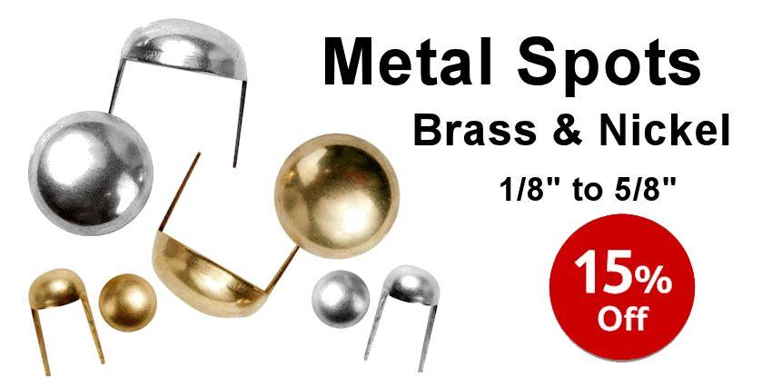 Nickel & Brass Metal Spots - Crazy Crow Trading Post Crow Calls Sale