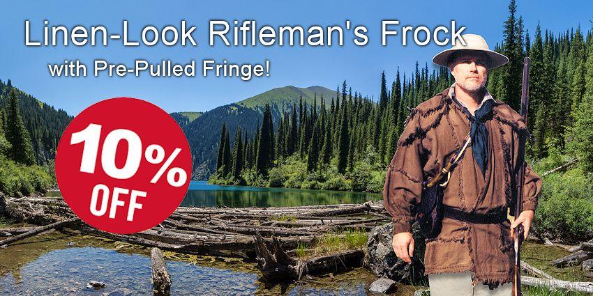 Rifleman's Frock - Linen Look Cloth - Crazy Crow Trading Post Crow Calls Sale