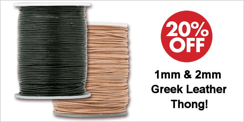 Greek Leather Thong, 2mm