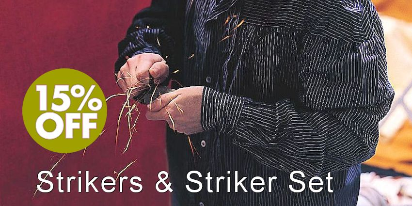 Flint & Steel Strikers & Kit Sale - Save 15%